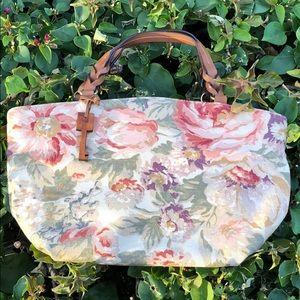 Fossil Floral Mini Canvas Handbag